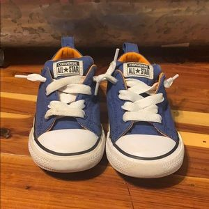 Toddler Converse size 8 blue and orange